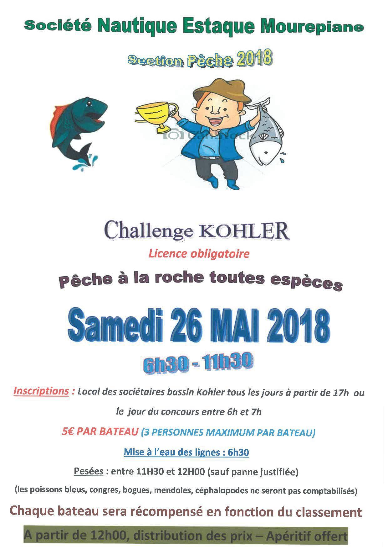 Challenge Kohler samedi 26 mai 2018