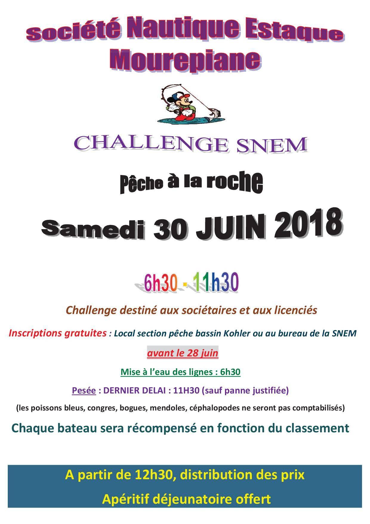 Challenge SNEM samedi 30 juin 2018