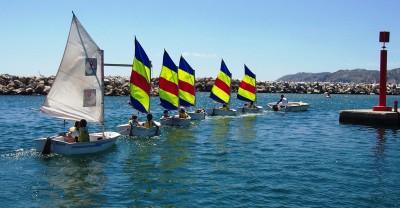 Navigation optimist enfant SNEM Marseille