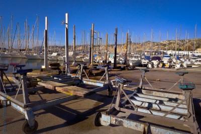 charriots de grutage à l'Estaque Marseille