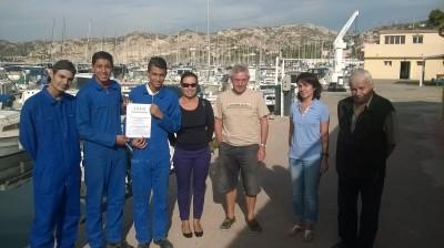 Partenariat avec le Lycée Professionnel Technologique l'Estaque
